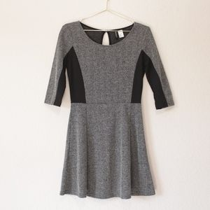 H&M Divided Heathered Black and Gray Dress